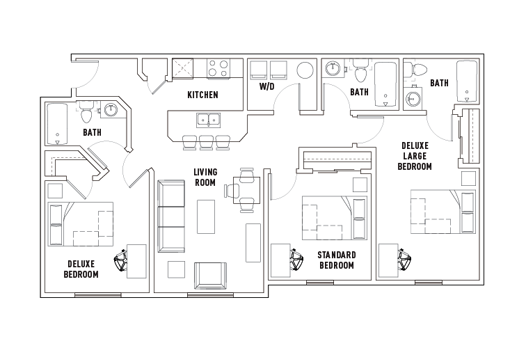 3 Bed   3 Bath Deluxe Large · MORE DETAILS. PRINT FLOOR PLAN