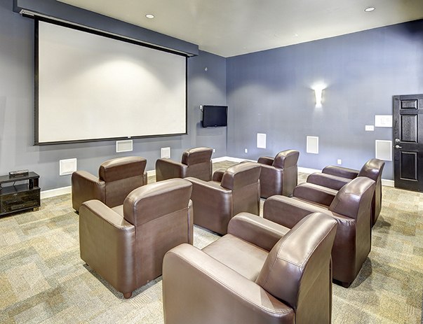Theater room at 5 Twenty Four & 5 Twenty Five Angliana