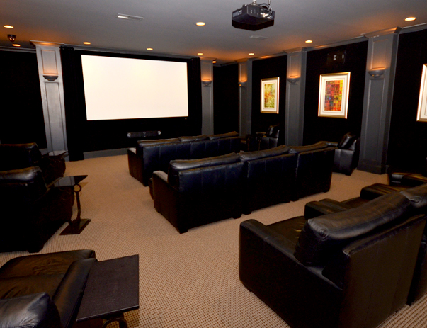 Theater room at The Province