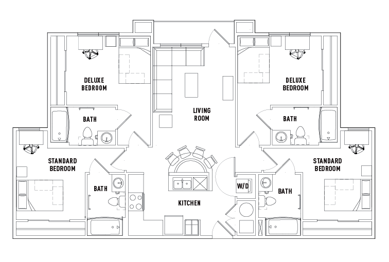 1 2 3 4 Br Apt Floor Plans University Walk