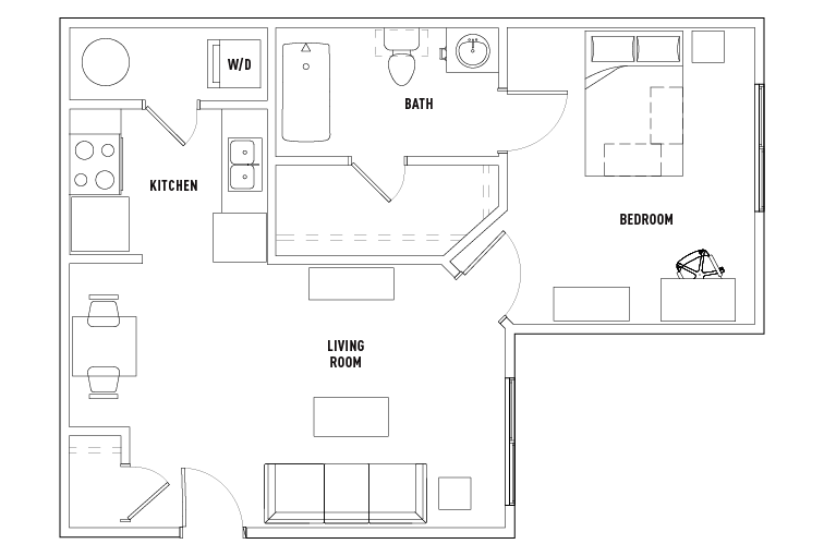 1 Bed 1 Bath Olde Towne University Square Student