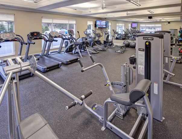 Fitness center at University Edge