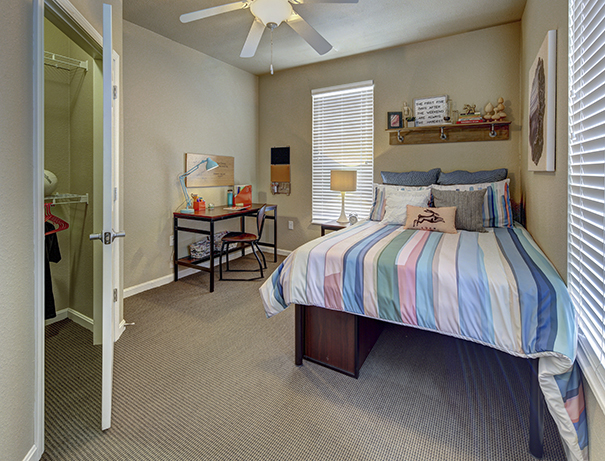Fully furnished, private bedroom at University Edge