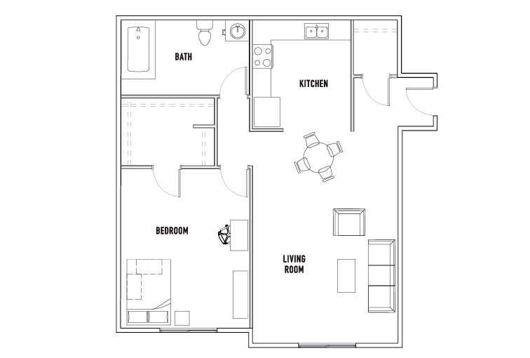 1 Bed - 1 Bath Apartment