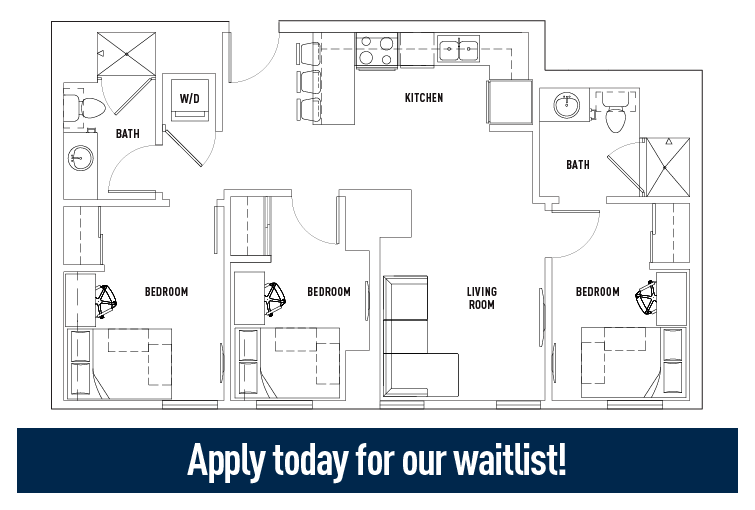 Floor Plans - Landmark - Student Housing - Ann Arbor, MI