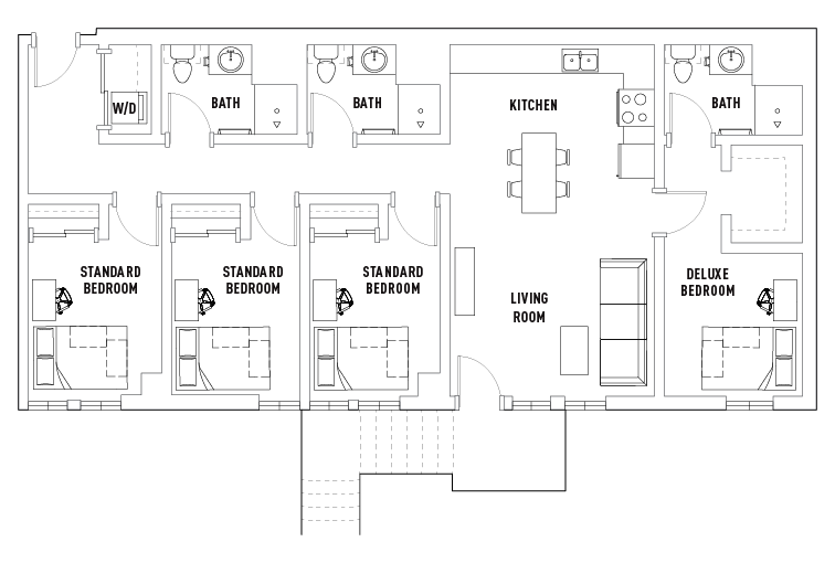Bedroom Bathroom Floor Plans Hub Flagstaff Student - Bathroom floor plan
