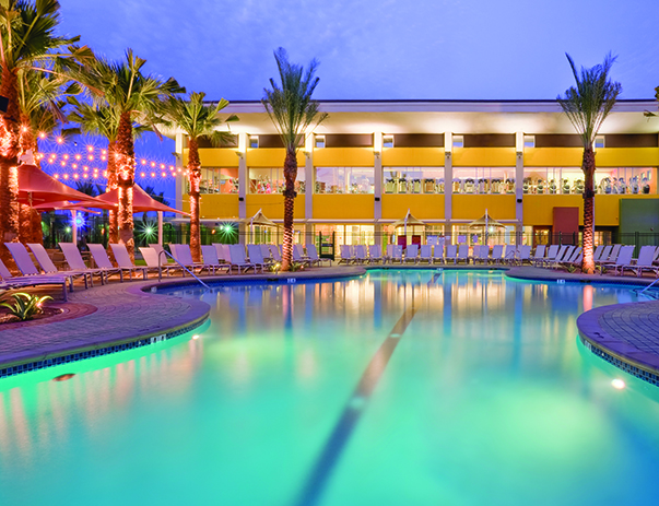Swimming pool and sundeck at Vista del Sol & Villas at Vista del Sol
