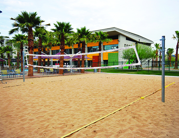 Sand volleyball court at Vista del Sol & Villas at Vista del Sol