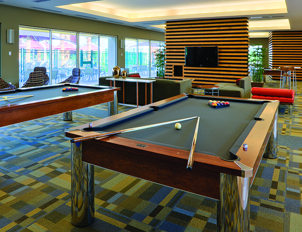 Game room at Vista del Sol & Villas at Vista del Sol