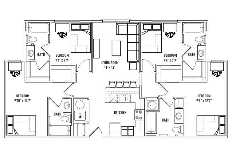 Floor Plans - Callaway House Apartments - Student Housing - Norman, OK