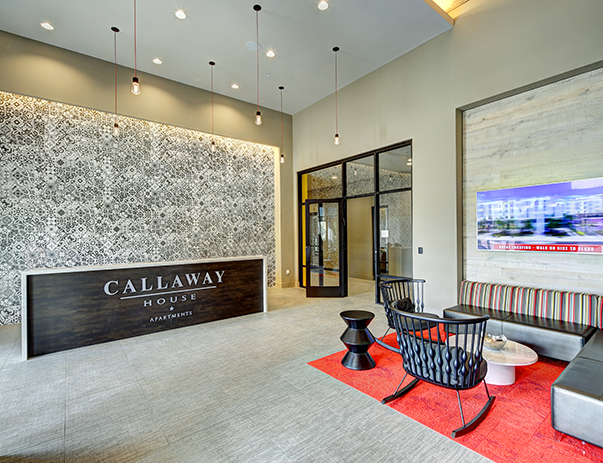 Lobby at Callaway House Apartments
