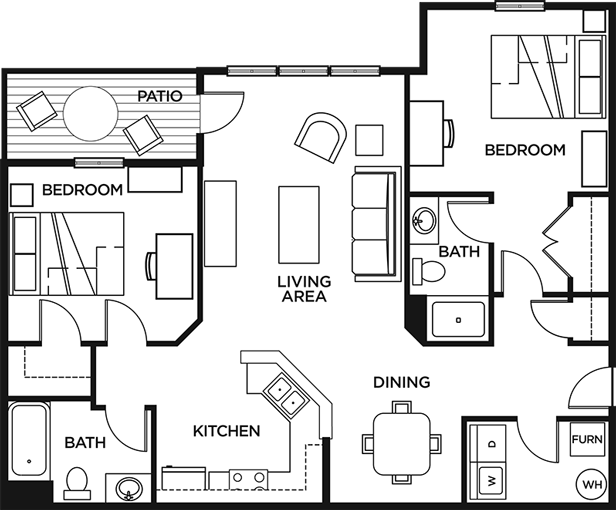 Floor Plans Grindstone Canyon Student Apartments In Columbia Mo