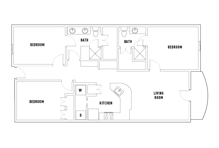 Floor Plans Texan and Vintage West Campus Student Housing