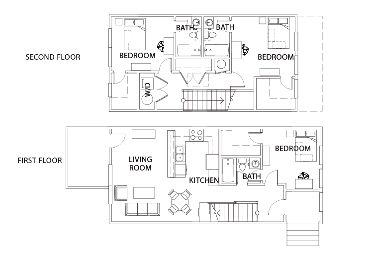 3 bed 3 bath milledge the retreat student housing for The retreat floor plans