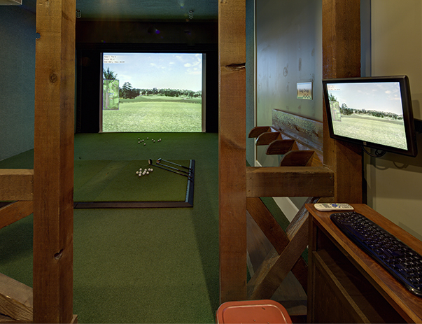 Golf simulator at The Retreat near Texas State University in San Marcos, TX