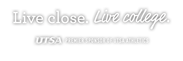 Live close. Live college. Premier sponsor of UTSA athletics. UTSA apartments. The Outpost.