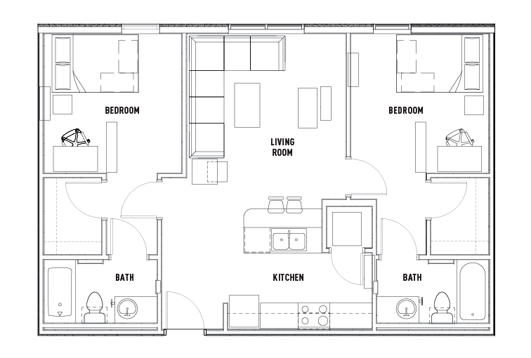 2 bed 2 bath apartment wait list the callaway house for 2 bedroom 2 bath apartment floor plans
