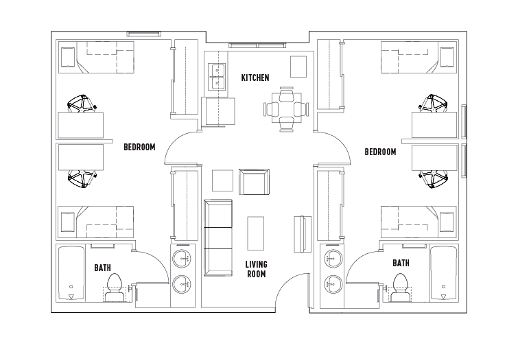 2 Bed - 2 Bath Suite Double