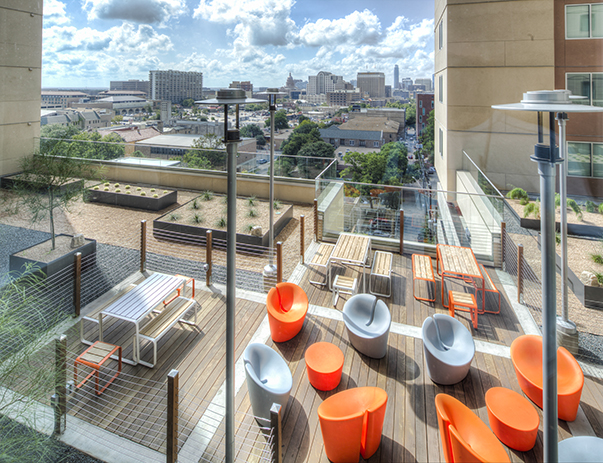 Rooftop Lounge At The Callaway House Austin