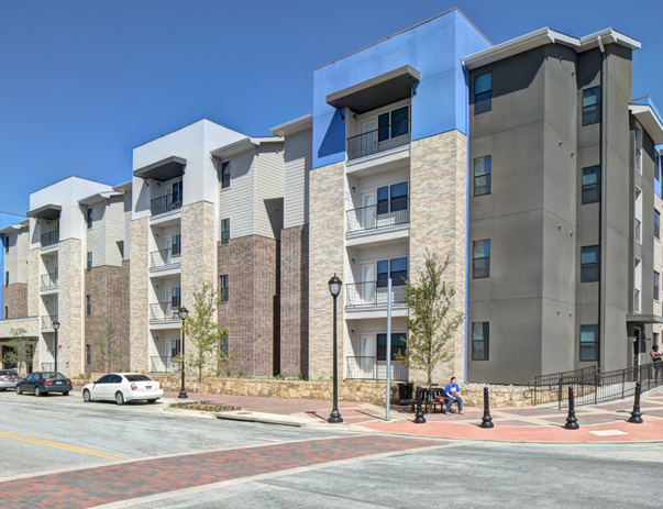 Exterior view of Campus Edge on UTA Blvd in Arlington, TX near the University of Texas at Arlington