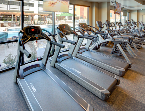 Fitness center at Campus Edge on UTA Blvd in Arlington, TX near the University of Texas at Arlington
