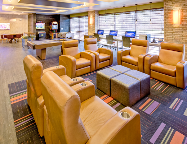Lounge at Campus Edge on UTA Blvd in Arlington, TX near the University of Texas at Arlington