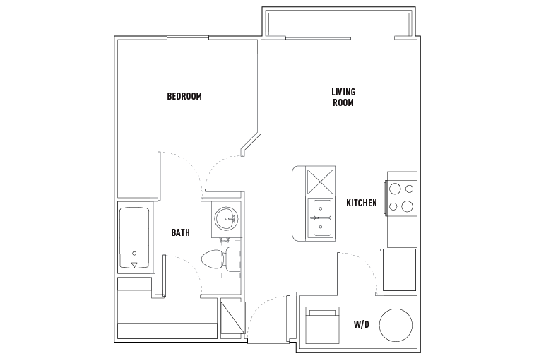 1 Bed - 1 Bath SMART Unfurnished