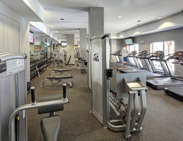 Fitness center at 26 West