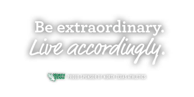 Be extraordinary. Live accordingly. Proud sponsor of North Texas Athletics. UNT & TWU apartments.