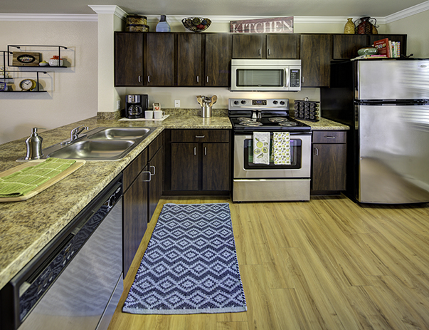 Spacious, fully equipped kitchen at Villas on Sycamore