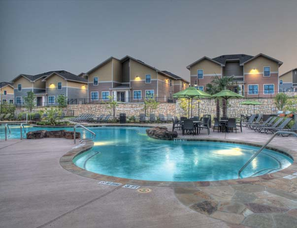 Swimming pool and sundeck at Villas on Sycamore
