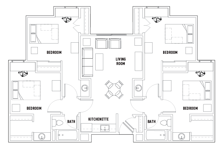 floor plans the callaway house college station student housing4 bed 2 bath