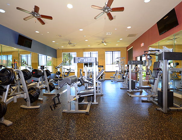 Fitness center at Callaway Villas