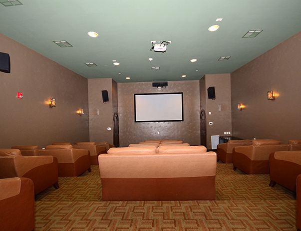 Theater room at Callaway Villas