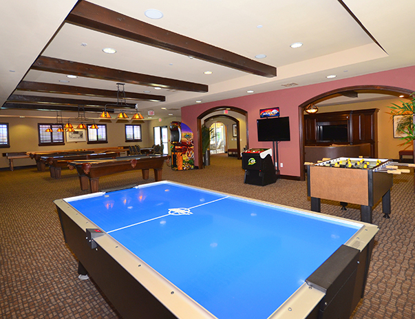 Game room at Callaway Villas