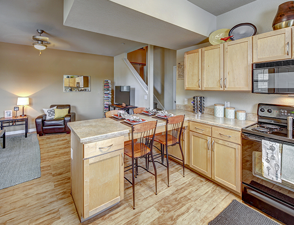 Fully equipped kitchen at Callaway Villas