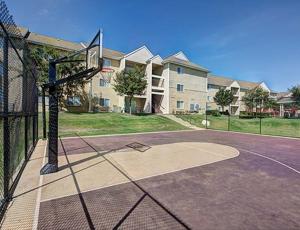 Basketball court at Aggie Station