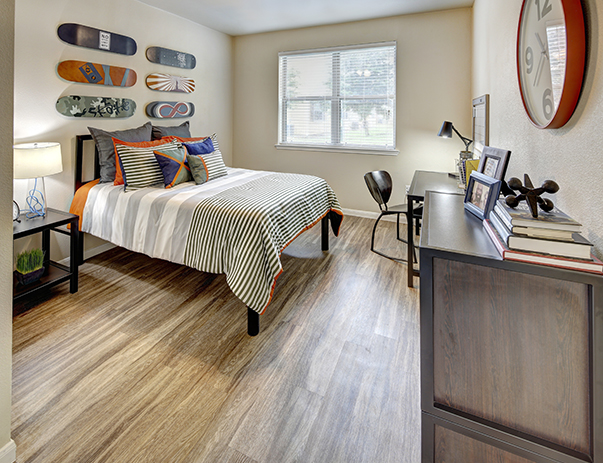 Fully furnished, private bedroom at U Club Townhomes on Marion Pugh