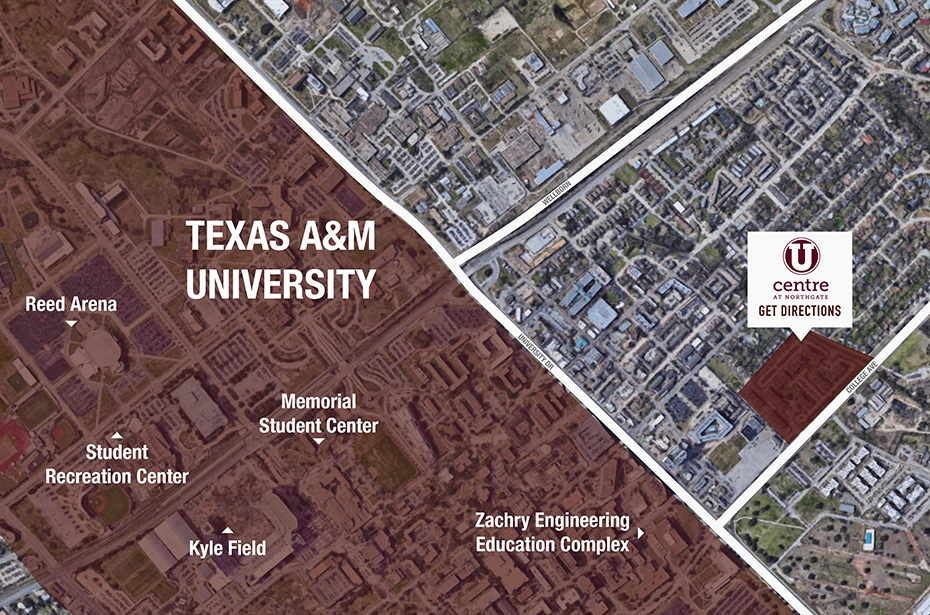 Campus Map Texas Am.U Centre At Northgate 4 Br Townhomes Flats By Texas A M