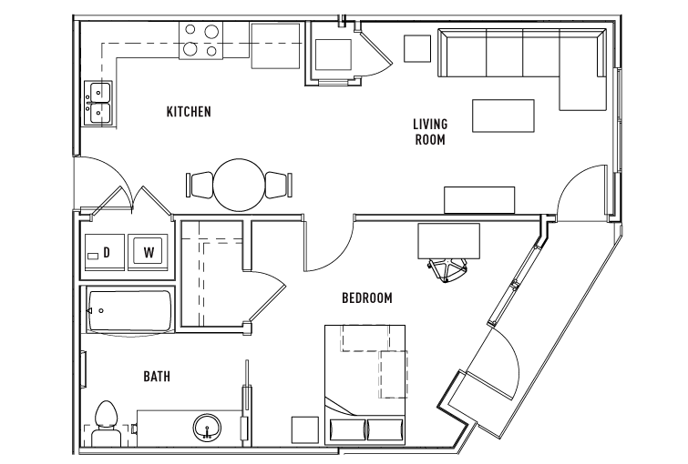 1 Bed - 1 Bath WAITLIST