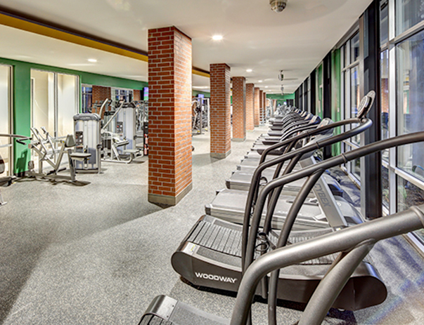 Fitness center at U Pointe on Speight