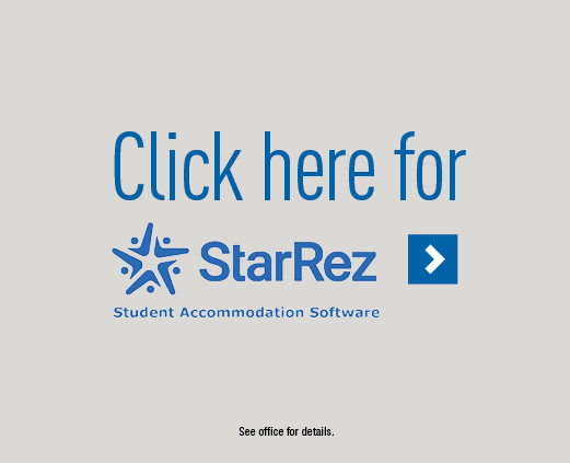 Click here for StarRez - Student Accommodation Software >