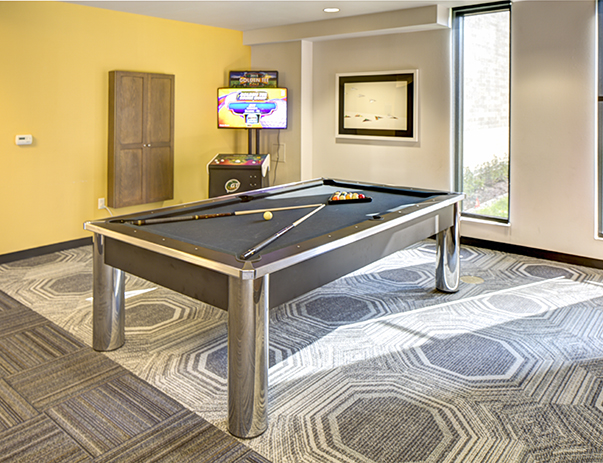 Game room at Honors Academic Village