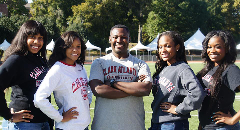 College friends at Clark Atlanta University