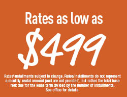 Rates as low as $499!