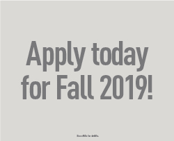 Apply online today for Fall 2019!
