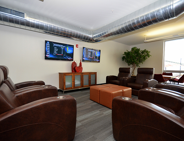 TV lounge at Campustown