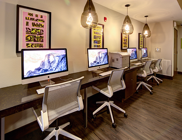 24-hour Academic Success Center with iMacs & free printing at 2125 Franklin