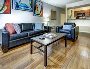 Spacious living room at 309 Daniel - a location of Campustown Rentals