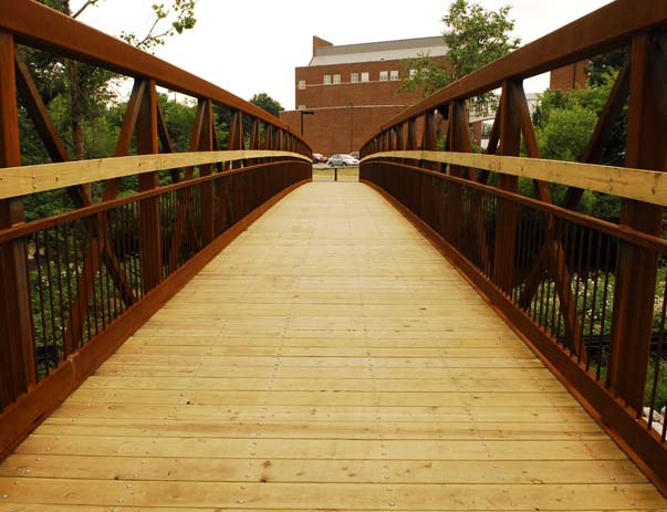 Walkway to campus at The Varsity